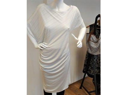 Bílé proužkované šaty