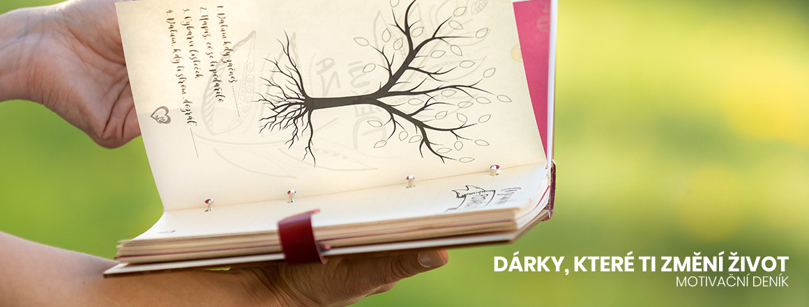 Deník s logem srdce