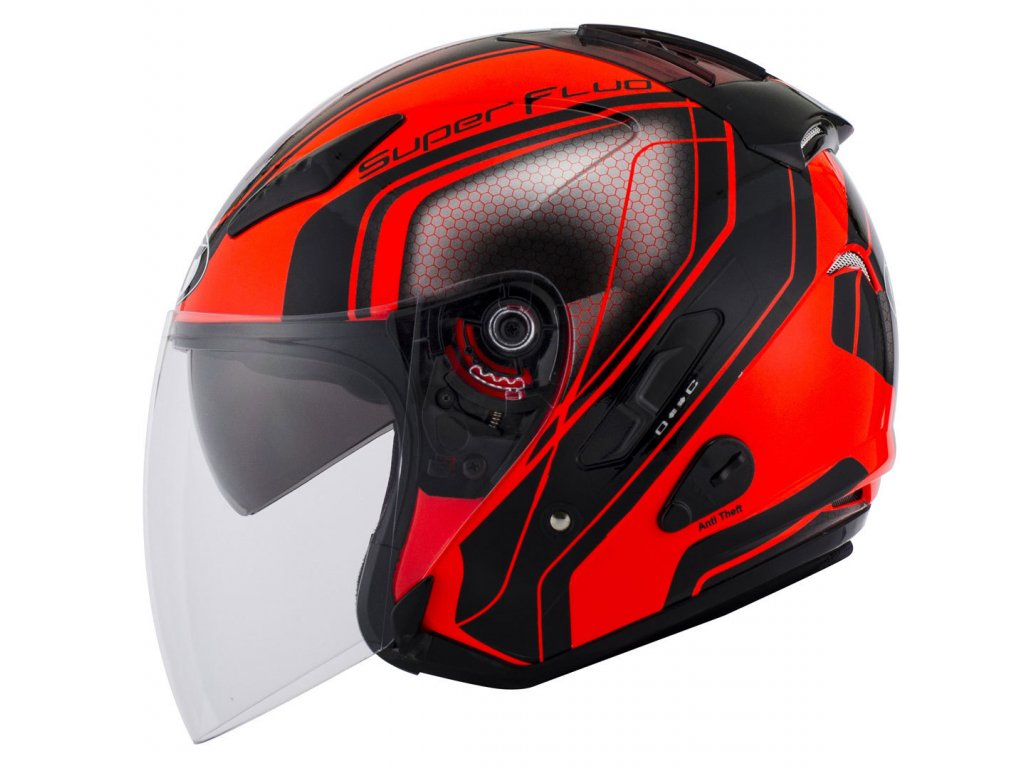kyt hellcat superfluo red 06