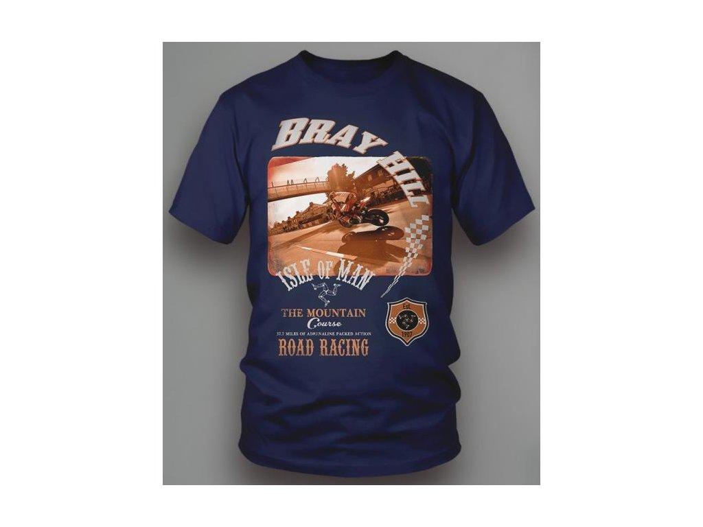 tričko ISLE OF MAN THE MOUNTAIN COURSE BLUE