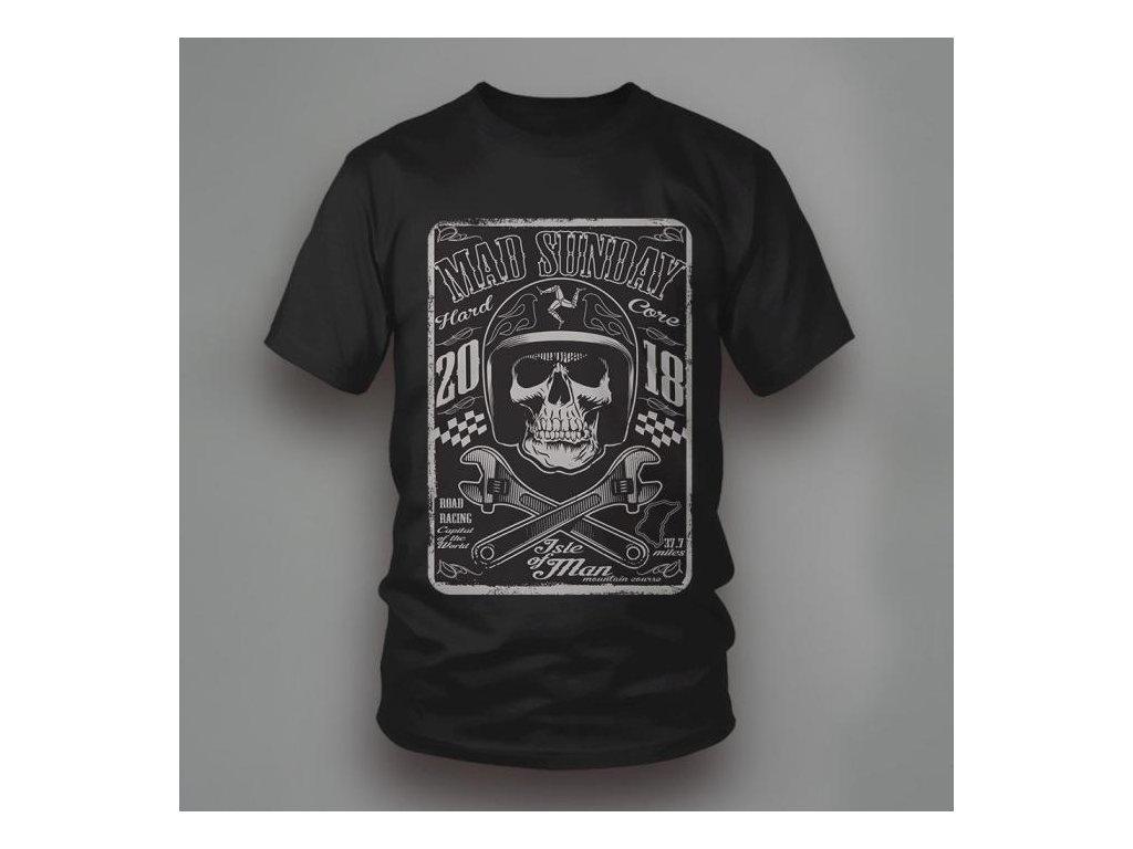 tričko ISLE OF MAN BLACK