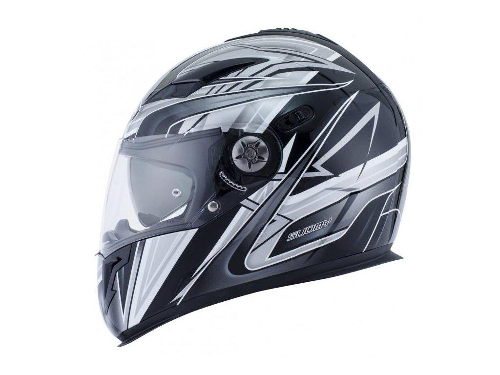 moto helma SUOMY HALO ZENITH BLACK GREY
