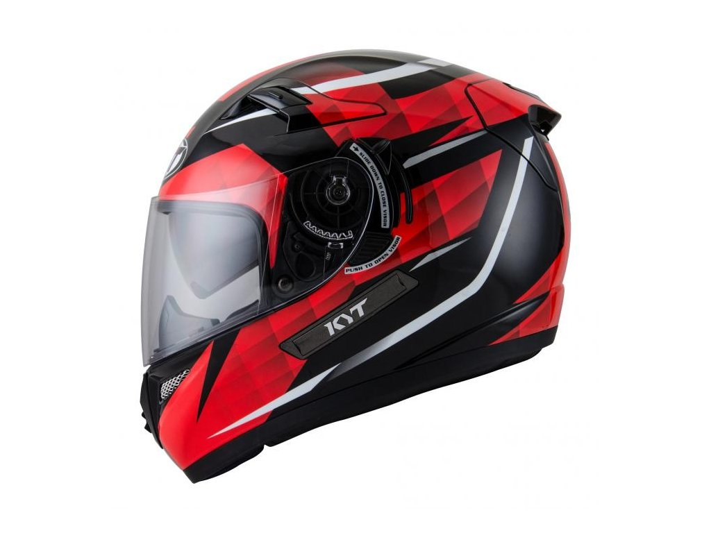 moto helma KYT VENOM Diamond black/red