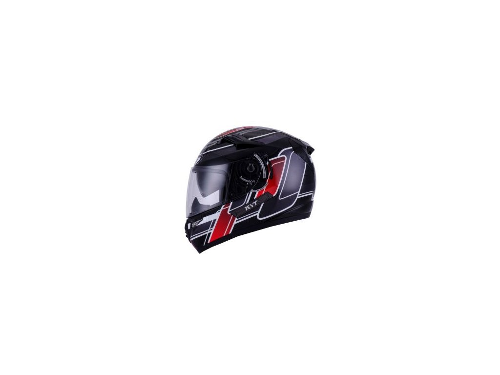 moto helma KYT VENOM SQUARE white fire