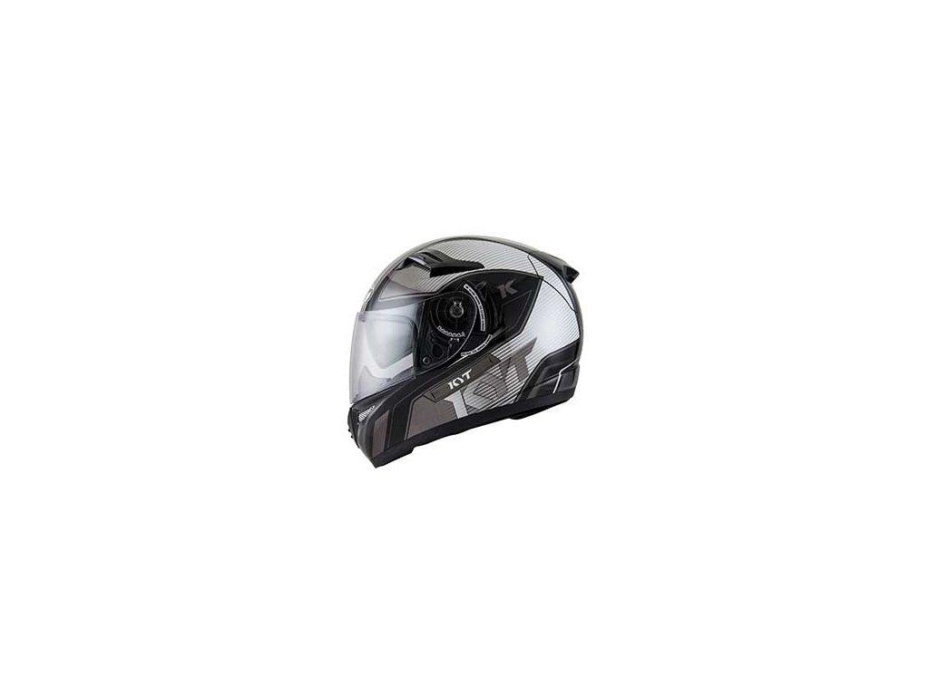 moto helma KYT VENOM SHADOW BLACK GUN