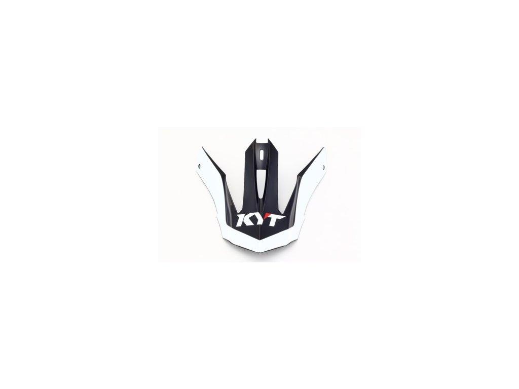 náhradní kšilt KYT PEAK K-MX black/red