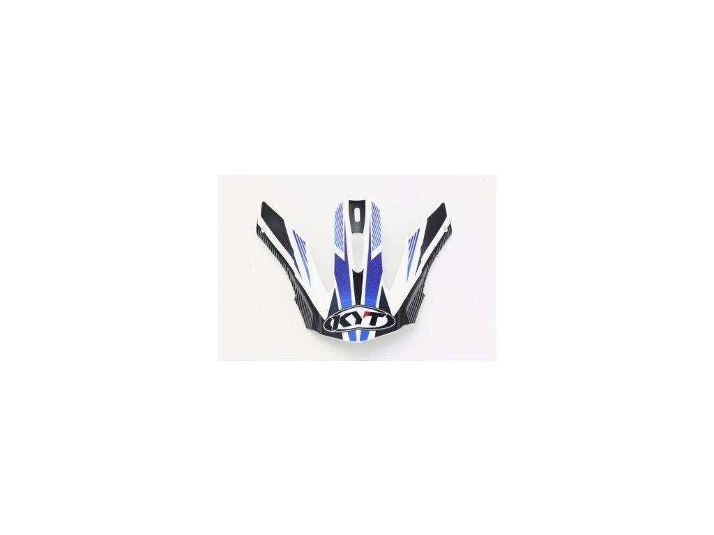 náhradní kšilt KYT STRIKE EAGLE STRIPE white/blue