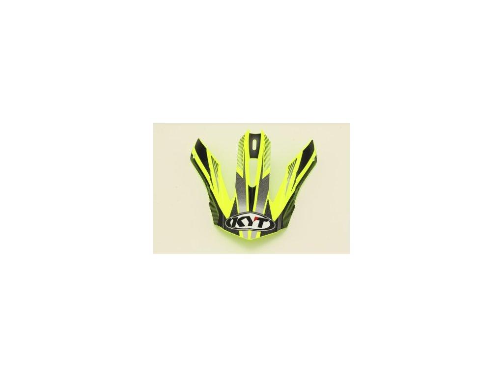 náhradní kšilt KYT STRIKE EAGLE STRIPE yellow fluo