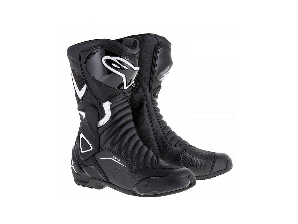 moto boty ALPINESTARS STELLA S-MX 6 černé/bílé