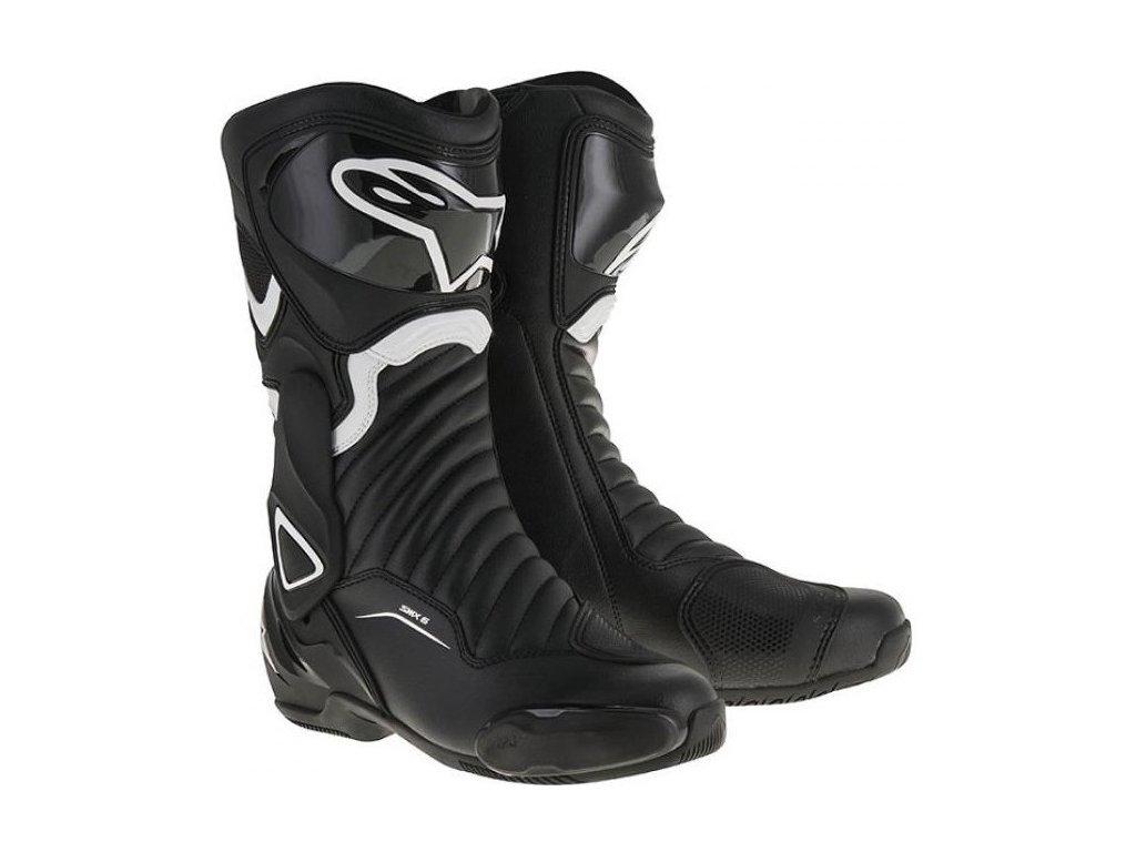 moto boty ALPINESTARS S-MX 6 černé/bílé