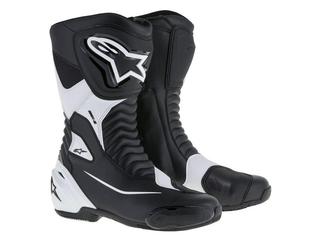 moto boty ALPINESTARS SMX-S černé/bílé