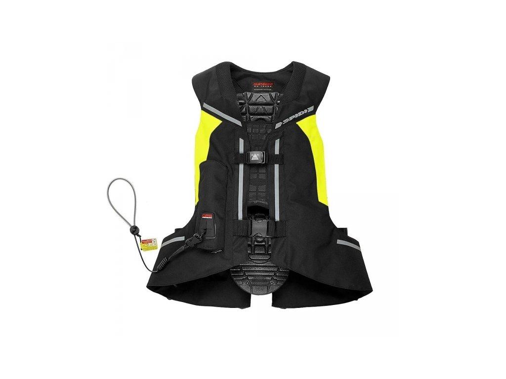 airbagová vesta SPIDI FULL DPS VEST CELOTĚLOVÁ black/fluo yellow