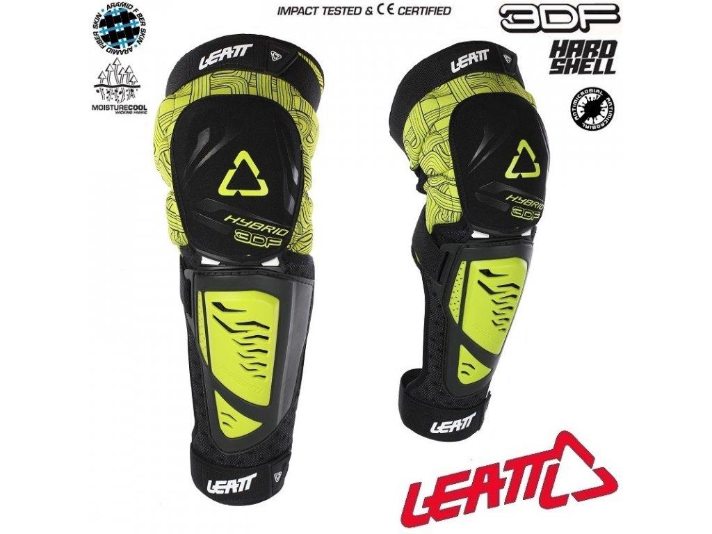 470bedaf7 chranice kolen a holeni na kolo leatt knee shin guard 3df hybrid ext lime