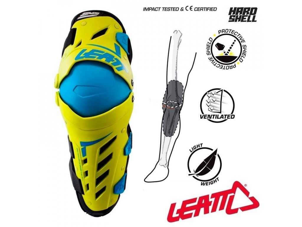 kloubove chranice kolen leatt knee guard dual axis lime blue