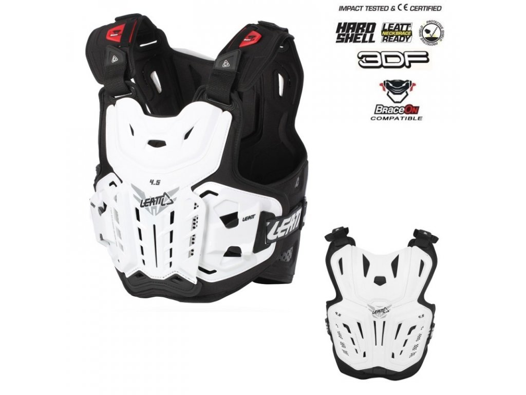 18029 chranic hrudi a zad leatt 4 5 chest protector white
