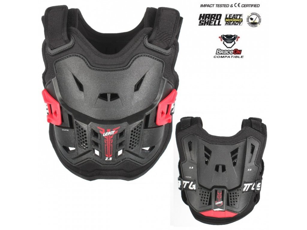 detsky chranic hrudi leatt 2 5 kids chest protector black red