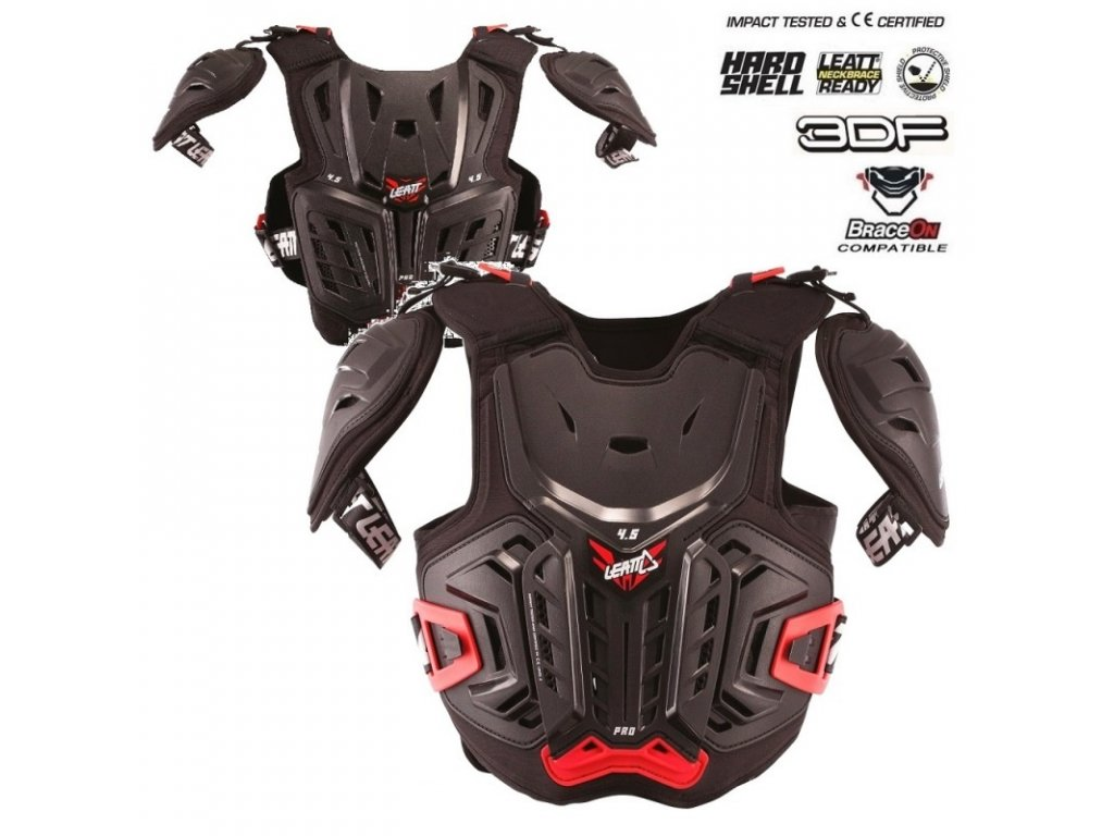 detsky chranic hrudi a zad leatt 4 5 pro chest protector junior black red