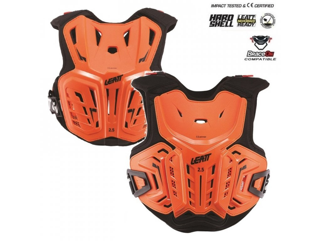 detsky chranic hrudi leatt 2 5 chest protector junior orange black