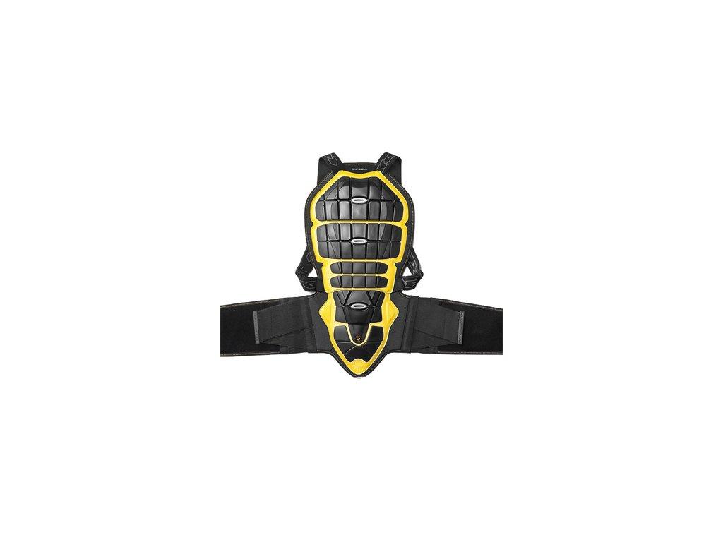 páteřový chránič SPIDI BACK WARRIOR pro výšku 160/170cm černý/žlutý