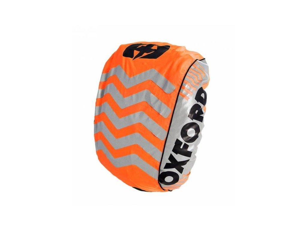 reflexni obal plastenka batohu bright cover oxford anglie oranzova reflexni prvky s x v 640 x 720 mm