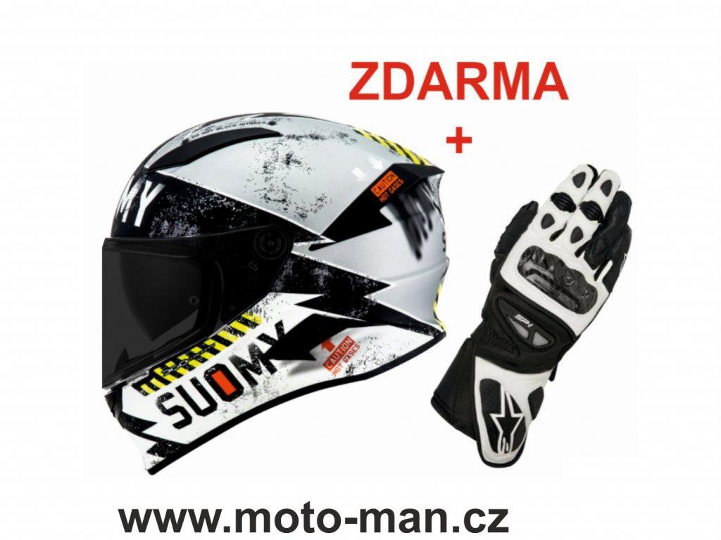 moto helma suomy speedstar evo propeller silver