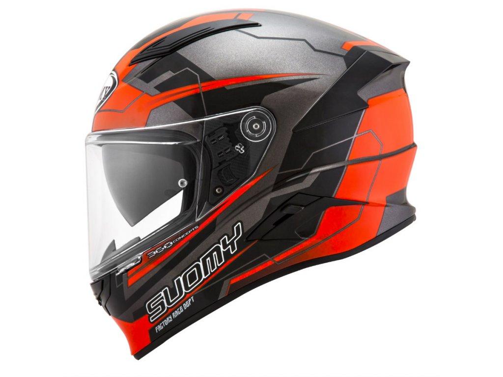 moto helma SUOMY SPEEDSTAR EVO CAMSHAFT ORANGE GREY