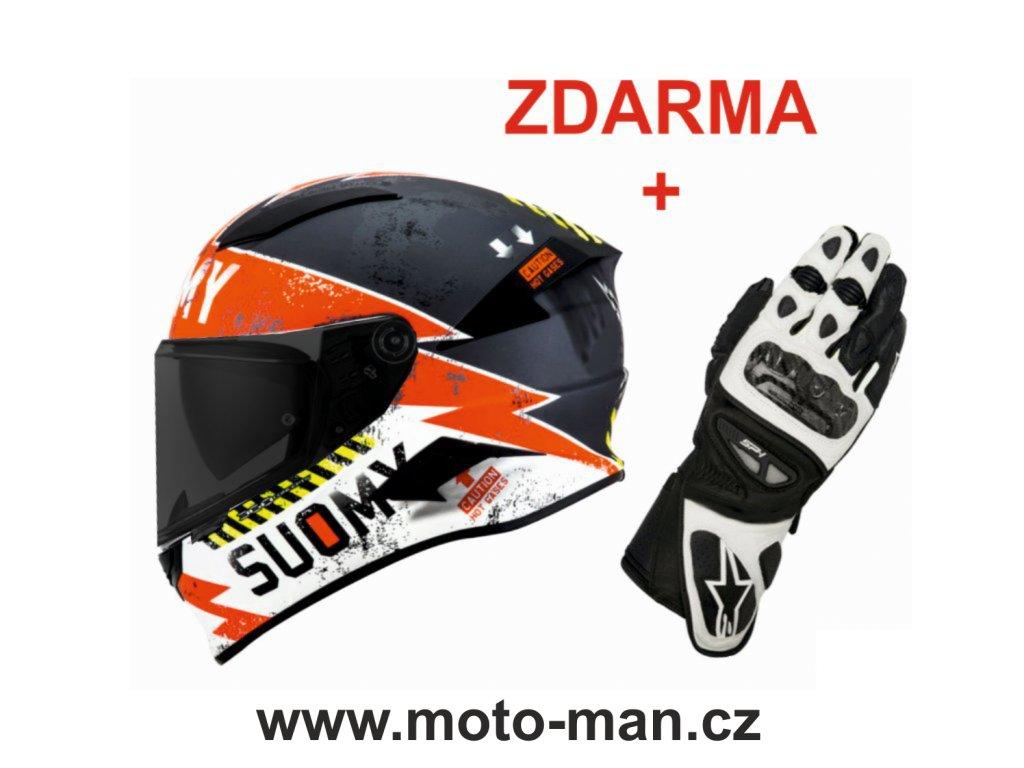 moto helma SUOMY SPEEDSTAR EVO PROPELLER MATT ANTHRACITE RED