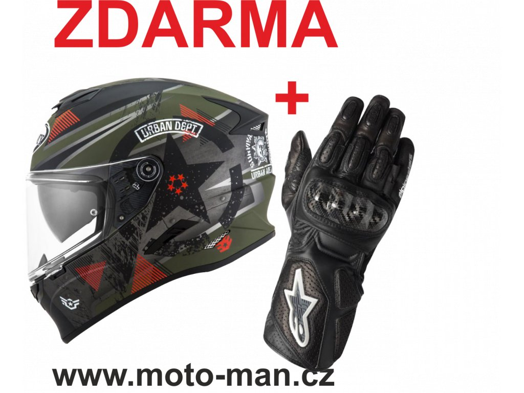 moto helma suomy wrench matt green grey