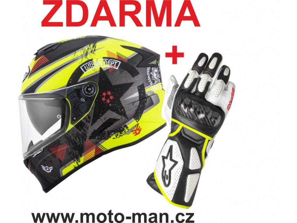 moto helma suomy stellar wrech matt yellow