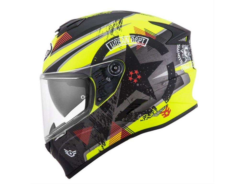 moto helma SUOMY STELLAR WRENCH MATT YELLOW FLUO GREY