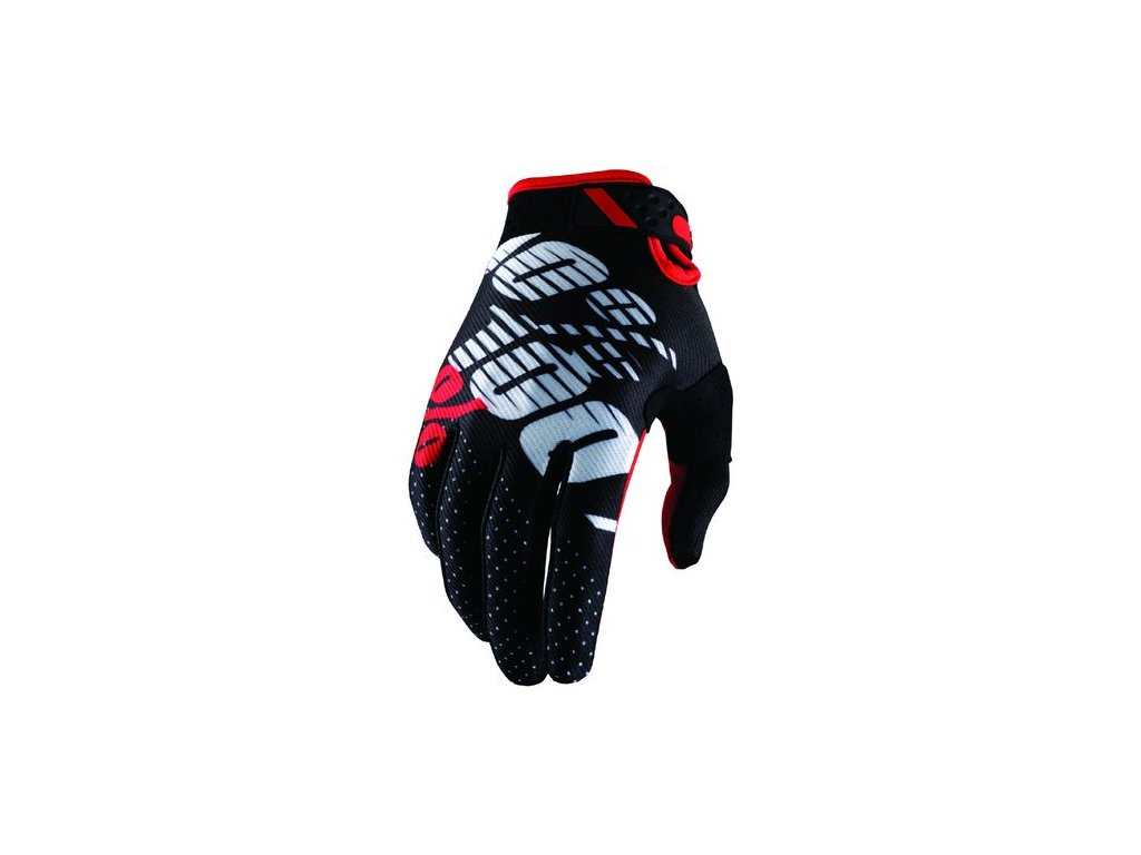MX rukavice 100% RIDEFIT BLK/RED