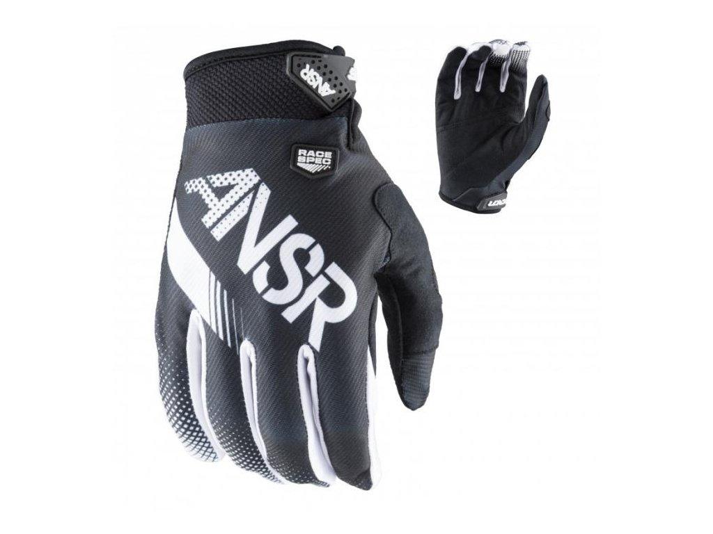 MX rukavice ANSWER SYNCRON BLACK WHITE 2017