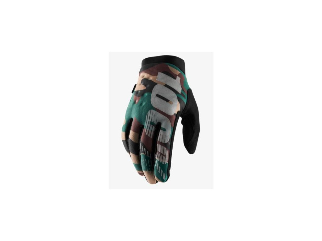 100 rukavice brisker camo black s