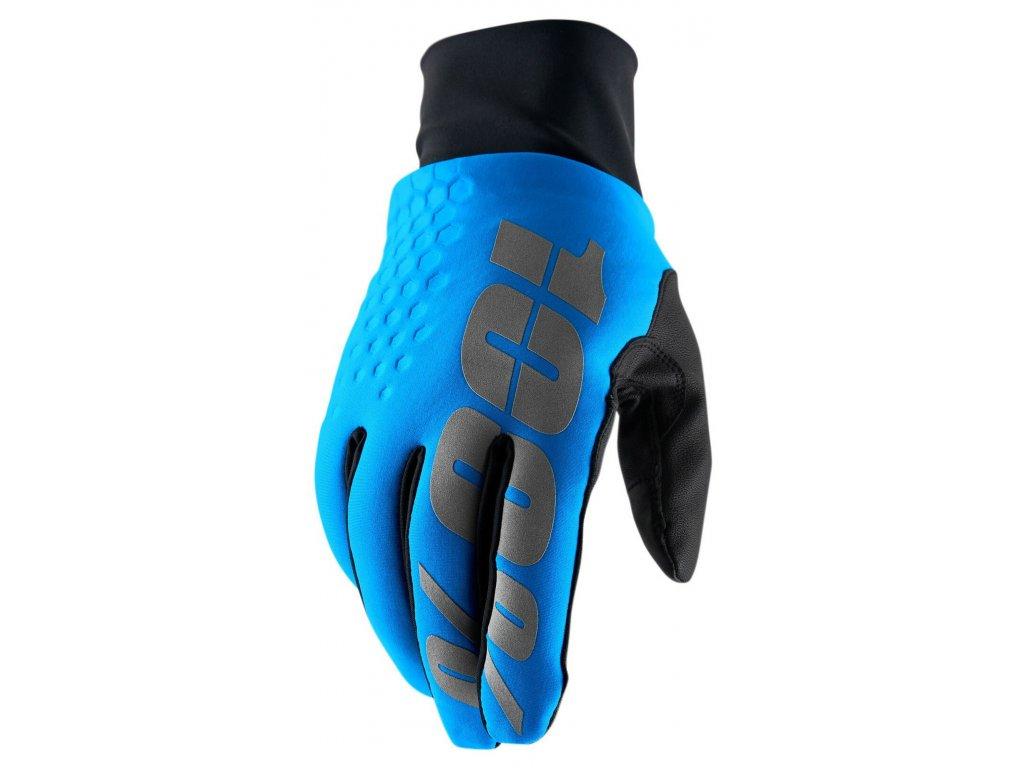 MX rukavice 100% Hydromatic Brisker modrá
