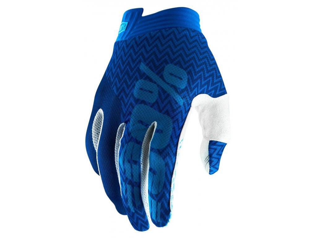 MX rukavice iTrack modrá/modrá