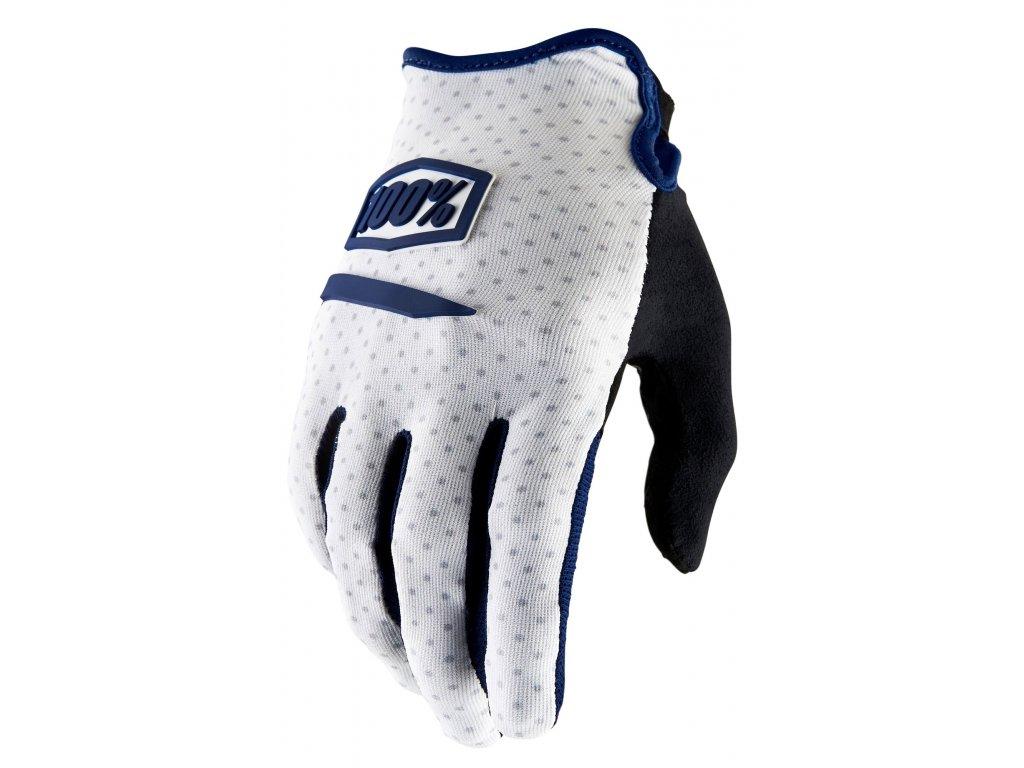 MX rukavice 100% RIDECAMP bílá