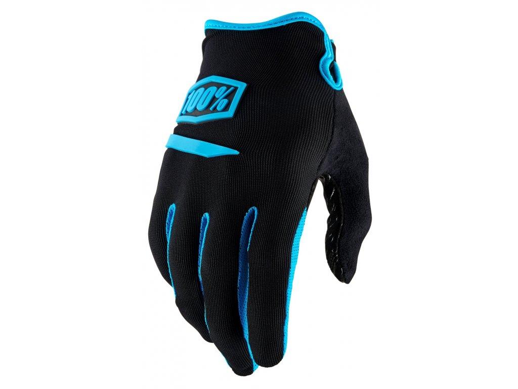MX rukavice 100% RIDECAMP černá