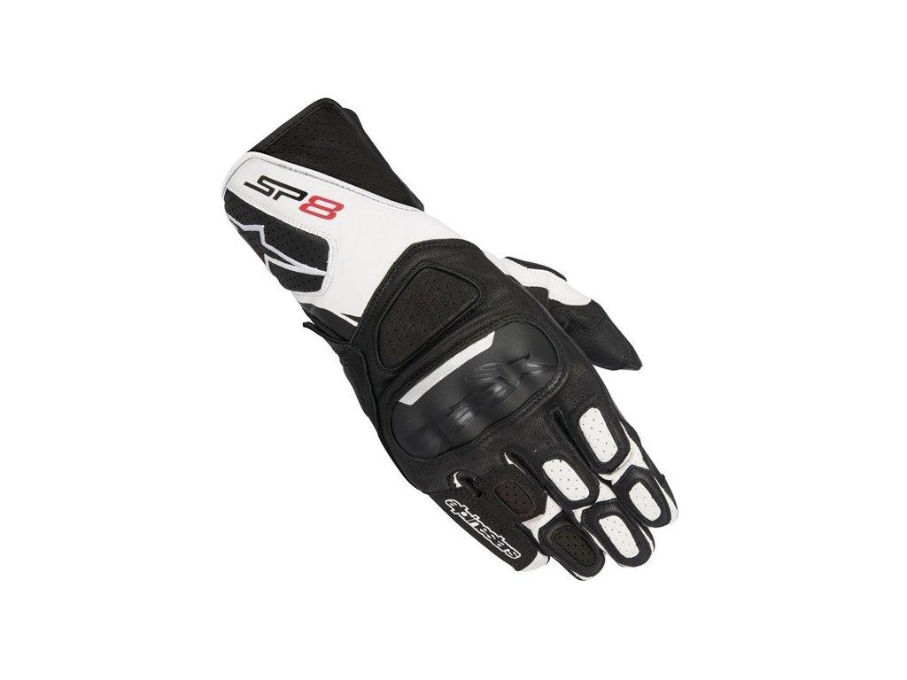 sp 8 v2 gloves black white