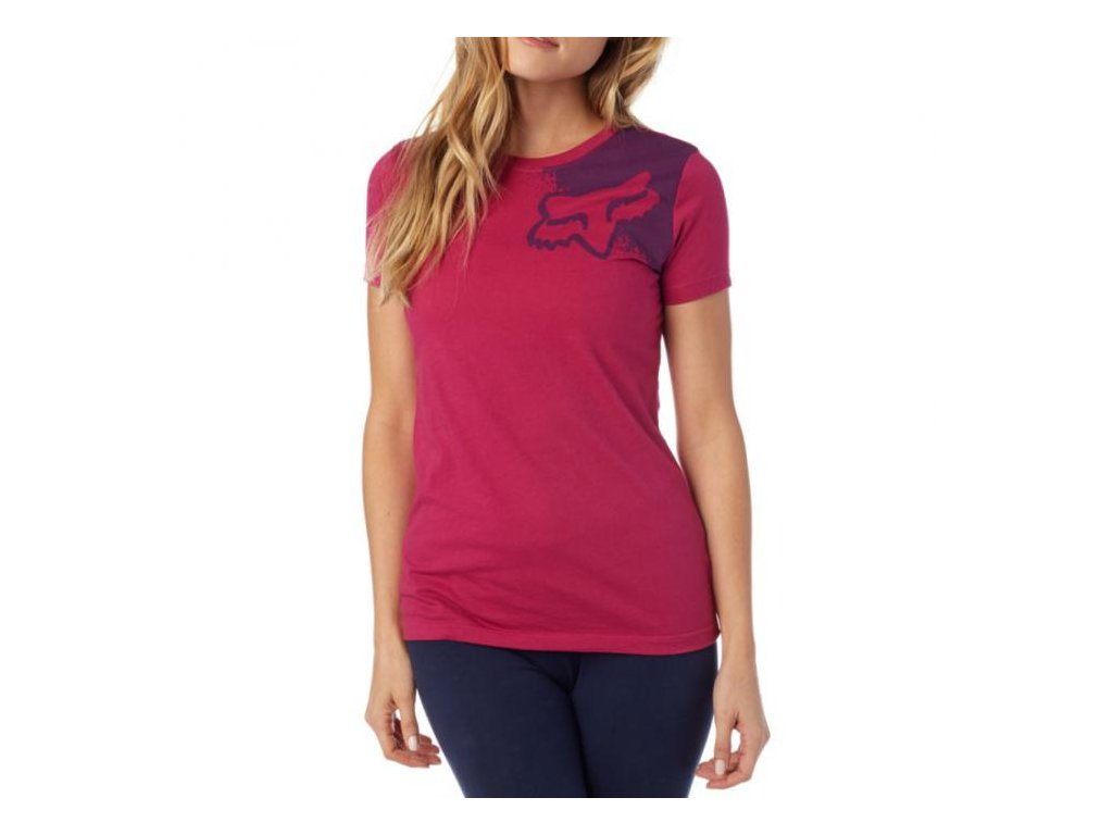 tričko FOX RACING PALPITATE CREW SS TEE BURGUNDY