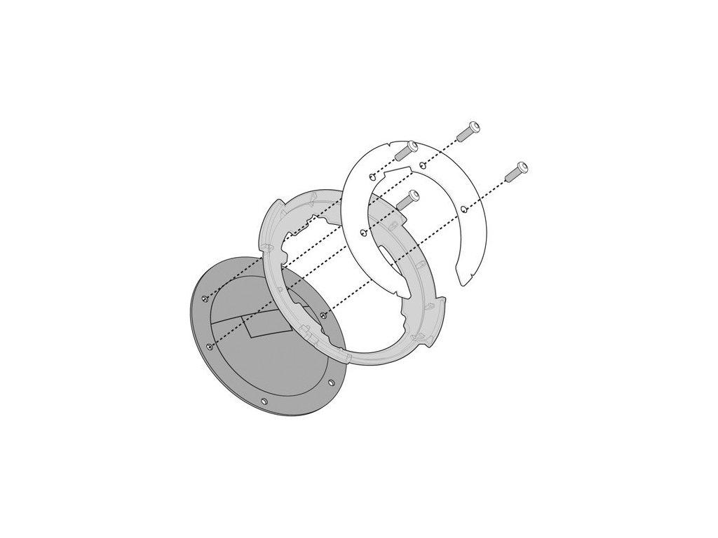 objímka pro uchycení tankvaků Tanklock KAPPA BF21K na Yamaha