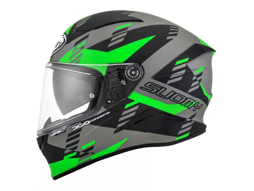 moto helma SUOMY SPEEDSTAR EVO FLOW MATT GREEN FLUO BLACK
