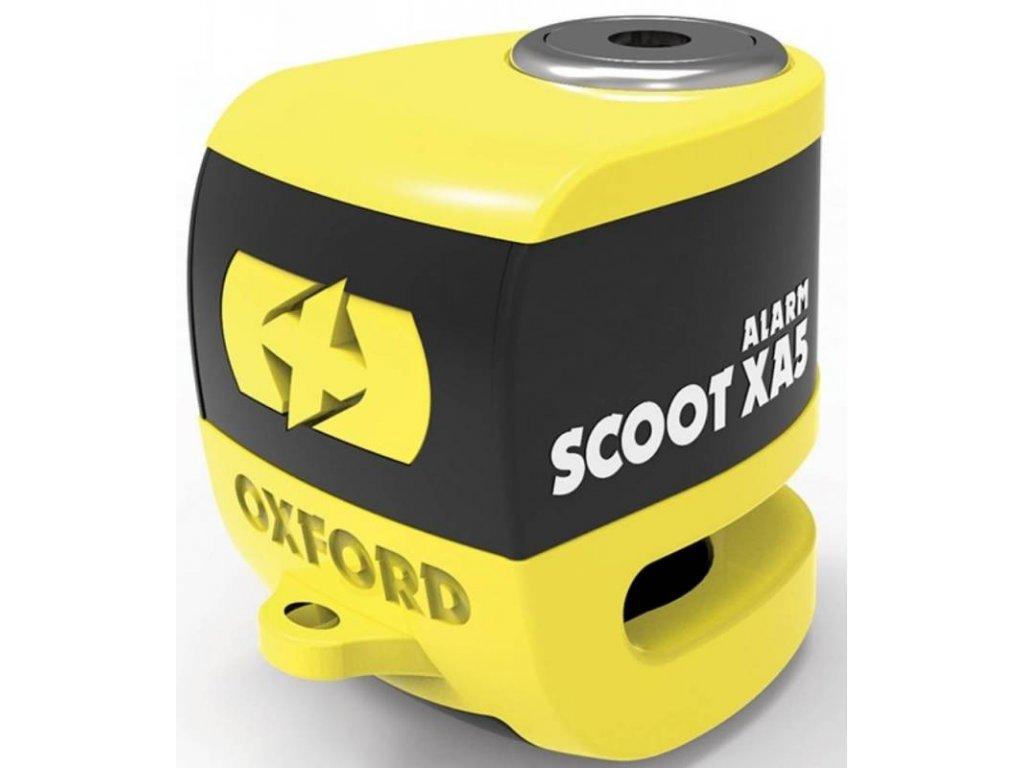zamek kotoucove brzdy scoot xa5 oxford anglie integrovany alarm zluty cerny prumer cepu 55 mm