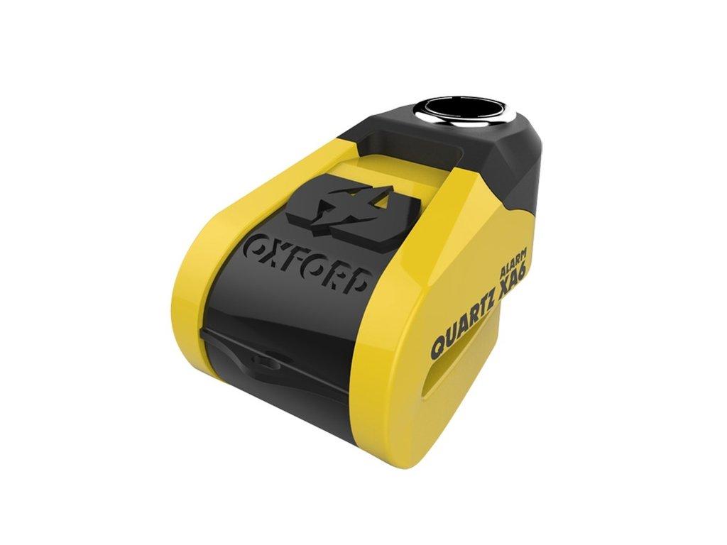 zamek kotoucove brzdy quartz alarm xa6 oxford anglie integrovany alarm zluty cerny prumer cepu 6mm