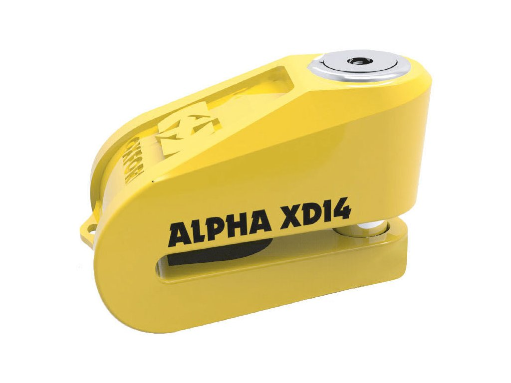 Oxford Alpha XD14 Stainless Disc Lock 14mm Pi LK276 Yellow 1 67726