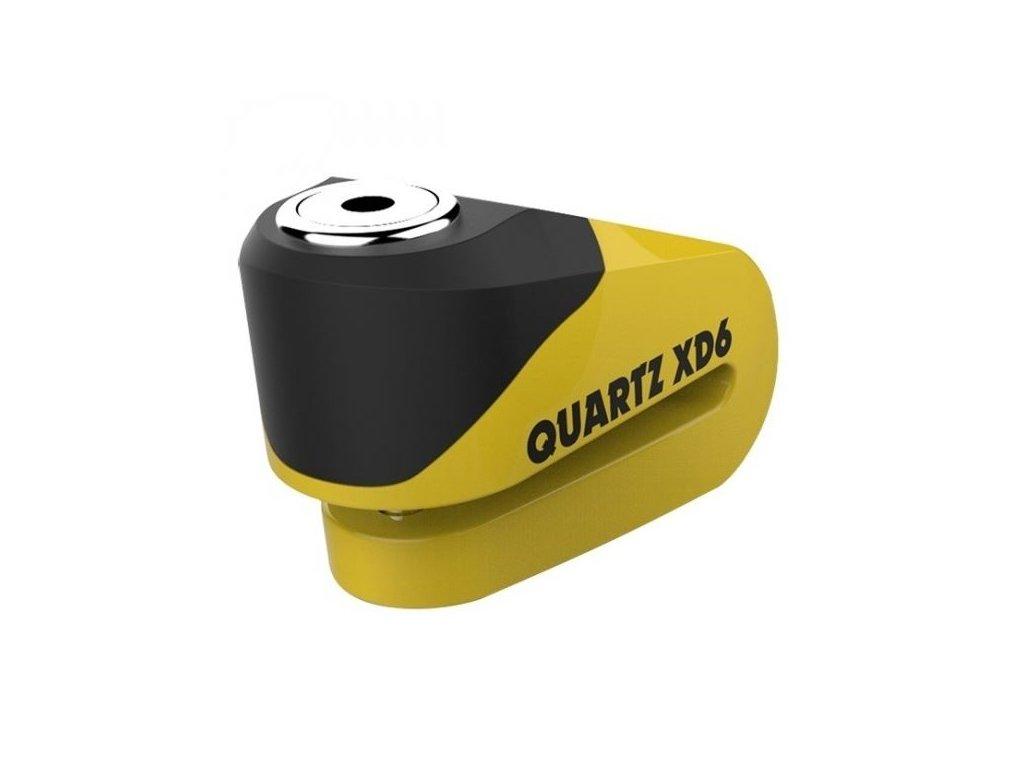 zamek kotoucove brzdy quartz xd6 oxford anglie cerny zluty prumer cepu 6mm
