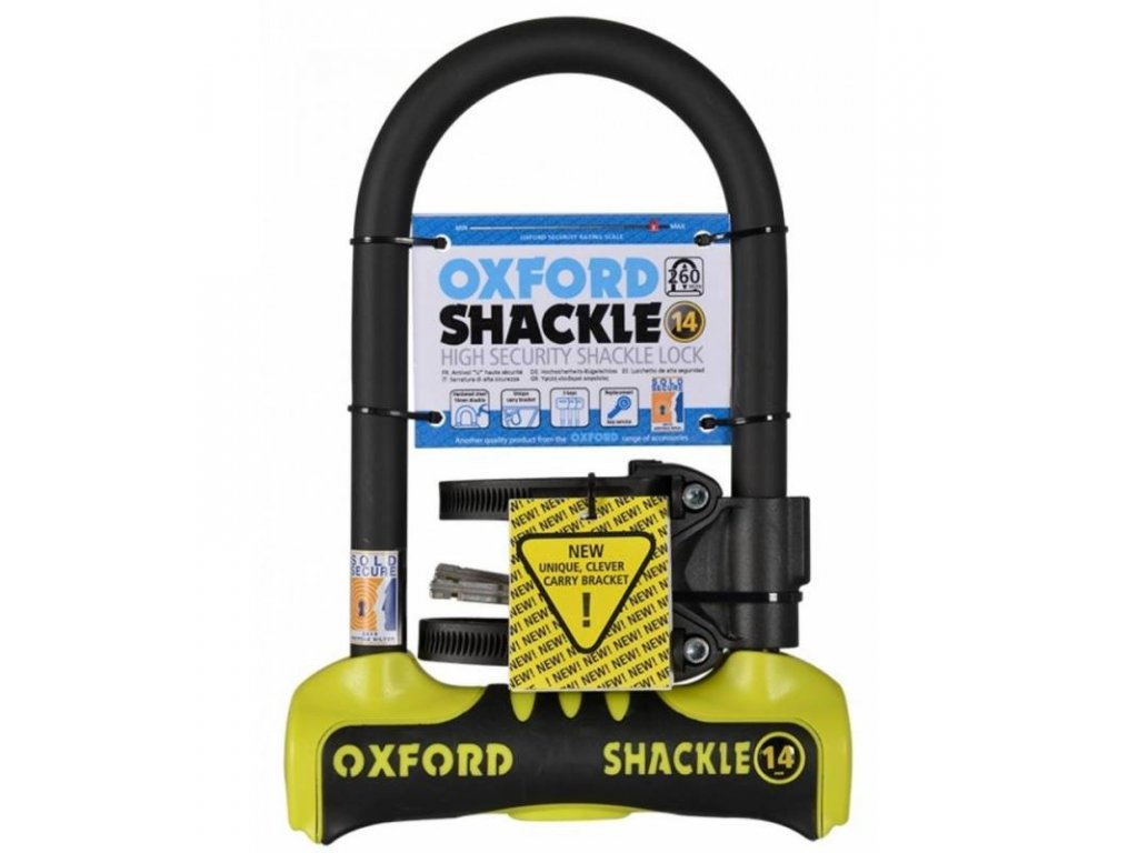 zamek u profil shackle 14 oxford anglie zluty cerny 260x170 mm prumer cepu 14 mm