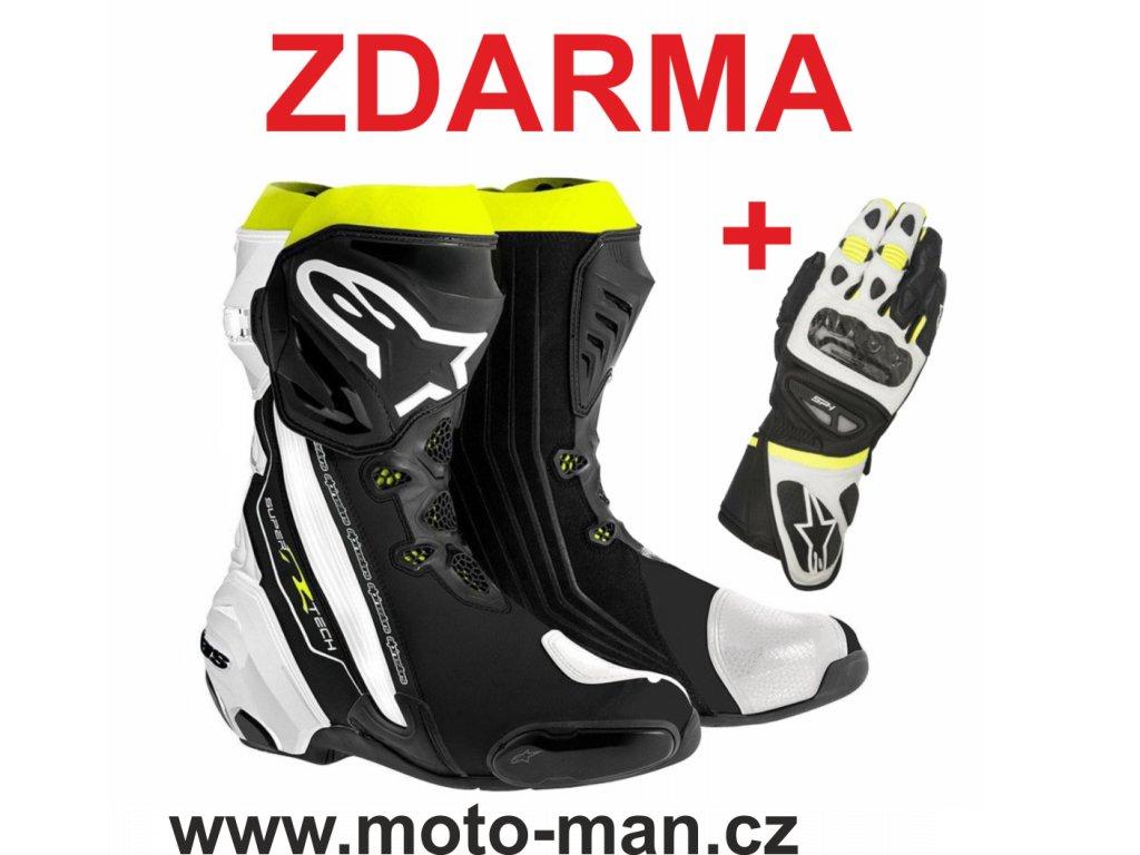 moto boty alpinestars supertech yellow