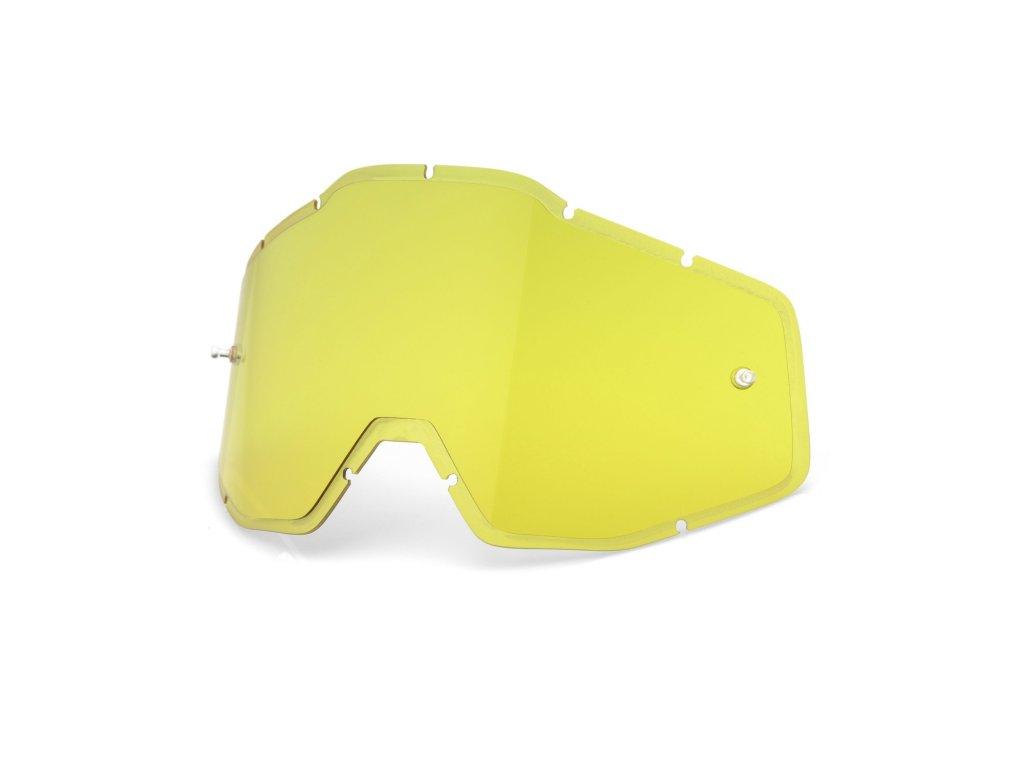 plexi 100% Injected Racecraft/Accuri/Strata žluté, Anti-fog
