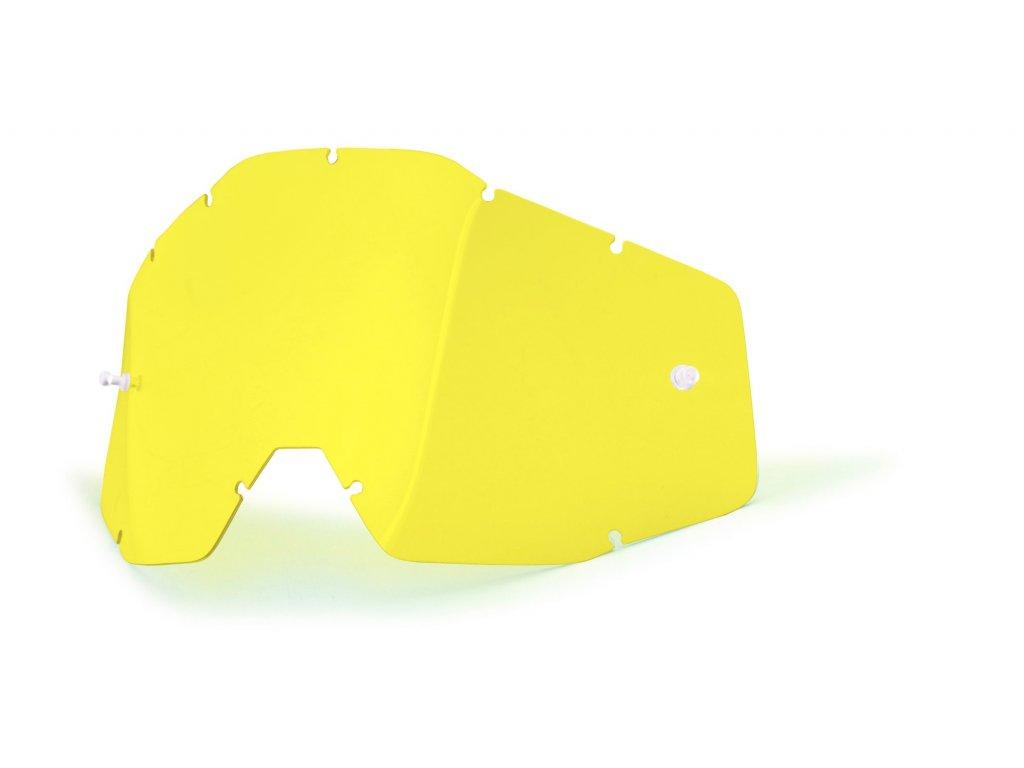 plexi 100% Racecraft/Accuri/Strata žluté, Anti-fog