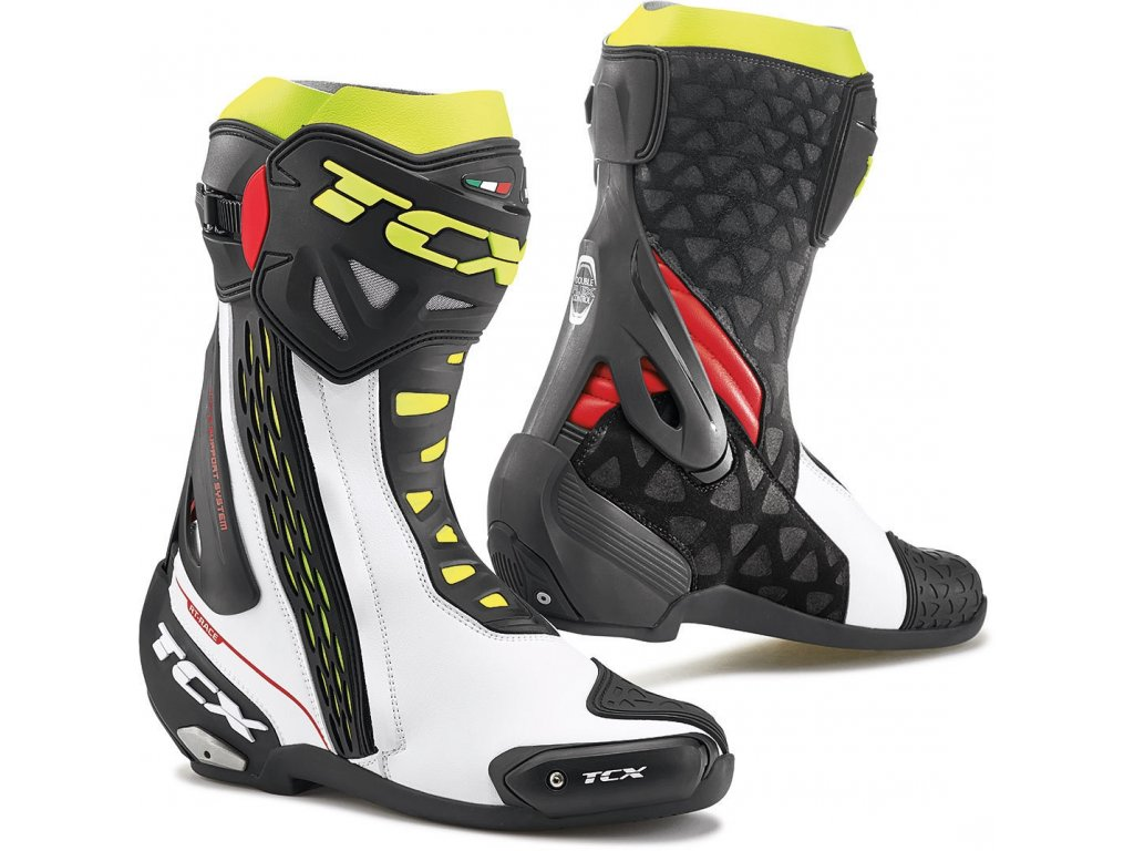 TCX 7655 RT RACE white red yellow fluo
